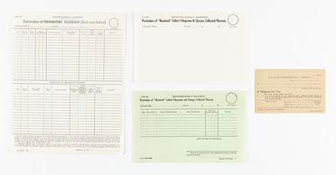 98/2/78-18 Postal forms (8), part of collection, various types, paper / cardboard / ink, Australia Post / Postmaster Generals Department, Australia, 1949-1965