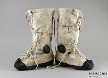 85/2455-25 Boot, rubber/cotton, used during the Australia New Zealand Antarctic Research Expedition, Antarctica, 1966