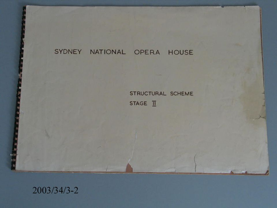 Drawings, engineering and architectural, 'Sydney National Opera