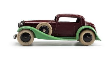 2008/158/1-2 Toy car (1 of 6), part of collection, 'Vogue Saloon (24d)', metal, Meccano Ltd, Liverpool, England, 1934-1940, used Wyatt family, Hobart, Tasmania / Roseville, New South Wales, Australia, 1935-1942
