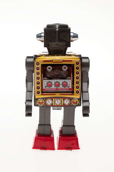 85/2573-45 Toy robot, 'Space Fighter', battery operated, metal / plastic, made by SH, Japan, 1950-1985