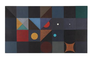 2007/30/4 Painting, synthetic polymer/gouache on masonite board / wood, designed and painted by Dahl Collings, Sydney, New South Wales, Australia, 1955
