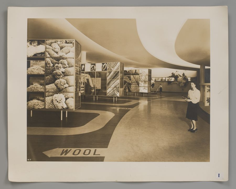 2008/100/1 Photographs (10), black and white, Australian Pavilion at New York World's Fair 1939, paper, photographed by Robert E Coates, New York City, New York, United States of America, for the architectural firm Stephenson & Turner, Sydney, New South Wales, Australia, 1939. Click to enlarge.