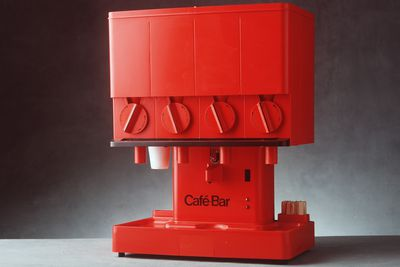 90/1049 Beverage dispensing machine, 'Cafe-Bar Compact', metal / plastic, designed by Nielsen Design Associates, 1970-1972, made and distributed by Cafe-Bar International, Sydney, New South Wales, Australia, 1977-1980