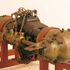 Image 1 of 1, B1065 Aircraft engine, partly sectioned, 'SpA Faccioli', with opposed pistons sharing a common combustion chamber, 8 cylinder, s/no A15635, 80 hp, model N.4, made by Italian automobile company Faccioli SpA, Turin, Italy, engine designed by Aristide Faccioli, 1911-1912. Click to enlarge