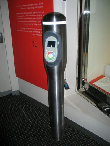 2014/105/1D Opal card ticketing reader, with test Opal cards (5), mixed materials, Cubic Transportation Systems / 4design, for Transport for NSW, Sydney, New South Wales, Australia / United States of America, 2010- 2013