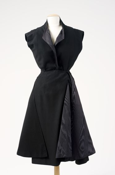 2010/3/1 Cocktail dress and under bodice, 'Moulin à Vent', womens, wool / silk / metal, designed by Christian Dior, made by the House of Dior, Paris, France, 1949