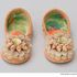 Image 2 of 6, 87/20 Miniature slippers (pair), shell / velvet, made by Olive Elizabeth Simms, La Perouse, New South Wales, Australia, c. 1962. Click to enlarge