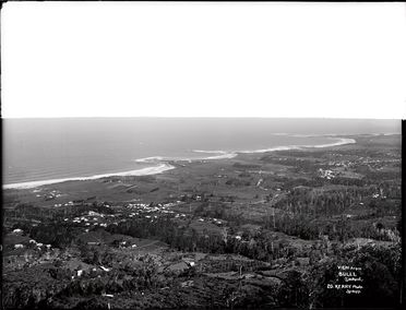 85/1284-12 Glass plate negative, full plate, 'View from Bulli (Lookout)', Kerry and Co, Sydney, Australia, c. 1884-1917