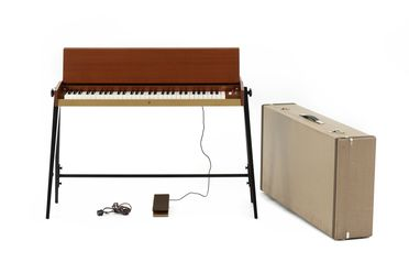 2021/70/3 Keyboard instrument with carry case, 'Pianet N', timber / metal / electronic components, designed by Ernst Zacharias for Hohner, made by the Hohner AG, Germany, 1965