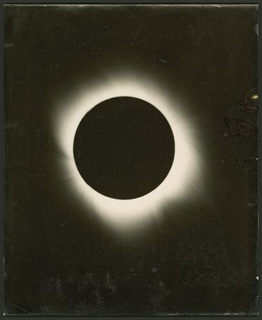 P3549-36 Photograph, part of collection, solar eclipse taken with Lick Observatory 12.19 metre (40 foot) coronagraph, paper / silver gelatin, photographed by Dr Adams, Wallal, Western Australia, 1922