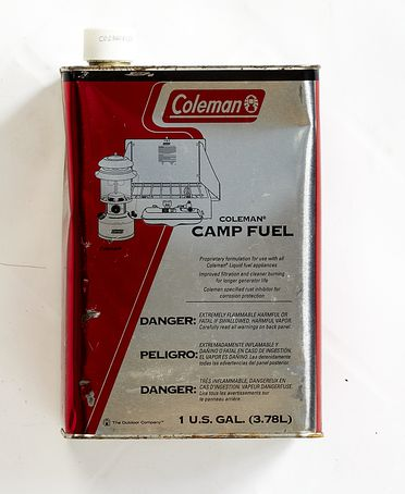 2014/48/34 Fuel can, 'Coleman', metal / plastic, made by Coleman Company Incorporated, Wichita, Kansas, United States of America, c. 2011, used by Australian adventurers, James Castrission and Justin Jones, on their 'Crossing the Ice' Antarctic expedition, October 2011 - January 2012