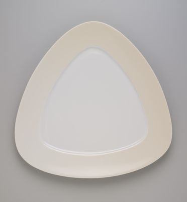 2007/37/1-5 Plate, 'Triangolo', slip-cast porcelain, designed by Roderick Bamford, Sydney, New South Wales, Australia, made by Monno Ceramic Industries, Bangladesh, for Manfredi Enterprises, Sydney, New South Wales, Australia, 2006