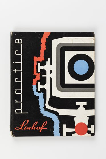 2011/59/1-5 Book, 'Linhof Practice: an introduction to Linhof Cameras, their Accessories, and Photographic Technique', paper, edited by Nikolaus Karpf and EF Linssen, published by Verlag Grossbild-Technik, Munich, Germany, 1959, used by Max Dupain, Sydney, New South Wales, 1959-1980s