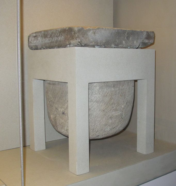 C3846 Water filter, dripstone, limestone, made at Norfolk Island, Australia [1825-1890], used by Captain James Little, Moore Park, New South Wales, Australia. Click to enlarge.