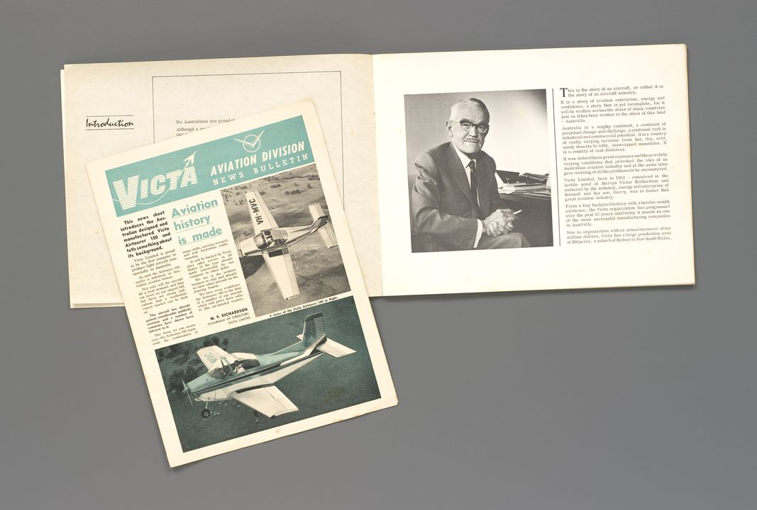 2007/174/1 Archive, relating to the Victa lawn mower, Airtourer and Mervyn Victor Richardson (1893-1972), various makers, Sydney, New South Wales, Australia, 1927-1966. Click to enlarge.