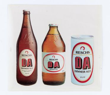 86/4692-4 Decal, Reschs Dinner Ale (DA) range, adhesive paper, designed by Pieter Huveneers for Tooth and Company Limited, Sydney, New South Wales, Australia, c. 1977