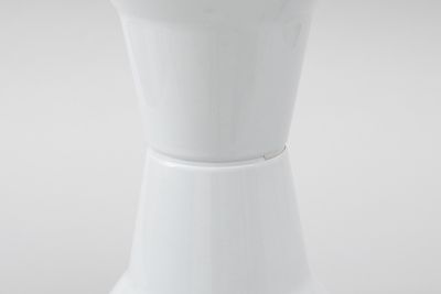 91/1865 Stool, bathroom, 'Utility', polypropylene, designed by Charles Rothauser and Bruce Thompson, 1967, made by Caroma Sales Pty Ltd, Adelaide, South Australia, 1990