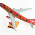 Image 2 of 16, 95/103/1 Aircraft model, stand and print, 'Wunala Dreaming', Boeing 747-400, Qantas Airways, plastic / metal / wood / paper, designed by John and Ros Moriarty, Balarinji Studio, Crows Nest, New South Wales, Australia, made by Scalecraft Models, New Zealand, 1993-1994. Click to enlarge