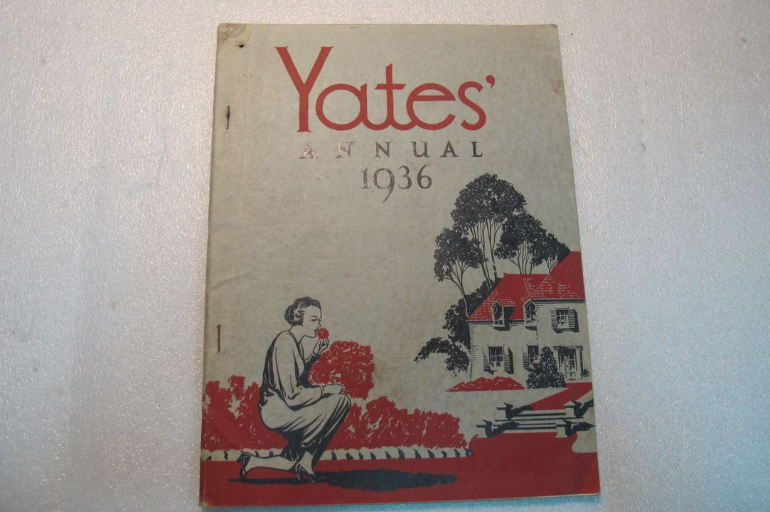 2003/35/27-5 Book (1 of 13), 'Yates Annual 1936', seed catalogue, paper / card / metal, published by Arthur Yates & Co Ltd, Sydney, New South Wales, Australia, printed by The Snelling Printing Works, Sydney, New South Wales, Australia, used by Henry Wong, Crookwell, New South Wales, Australia, 1936. Click to enlarge.