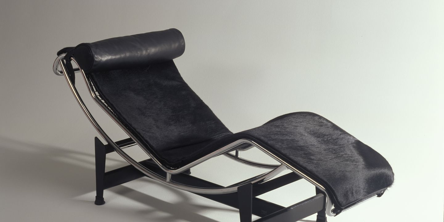 85 1838 Chaise Longue LC4 Steel Leather Designed By Le Corbusier