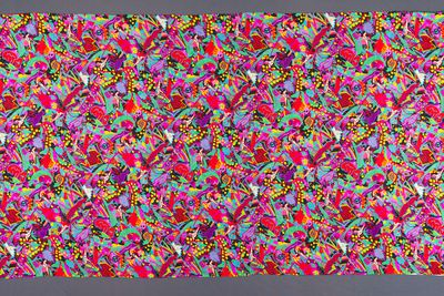 90/455-1 Textile length (1 of 3), 'Flying Oz', silk charmeuse, Jenny Kee, Australia, 1984