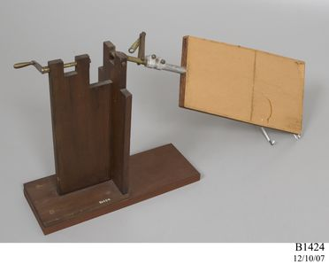 B1424 Model of bird wing movement, wood / metal / paper, Lawrence Hargrave, Rushcutters Bay, New South Wales, Australia, 1888