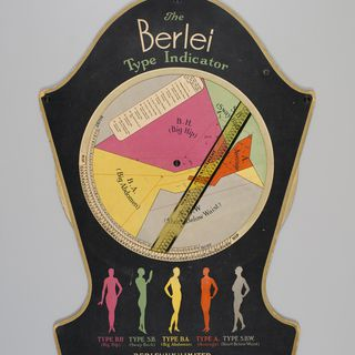 P3645-28/4 Chart, The Berlei Type Indicator, cardboard / plastic / metal, Berlei (UK) Ltd, London, England, c. 1930