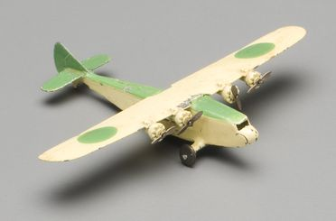 2008/158/1-8 Toy aircraft (1 of 6), part of collection, 'Atlanta class Imperial Airways Liner (60a)', metal, Meccano Ltd, Liverpool, England, 1934-1940, used Wyatt family, Hobart, Tasmania / Roseville, New South Wales, Australia, 1935-1942