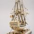 Image 11 of 46, H5217 Ship model in case, 72 gun French Frigate warship, possibly representing the 74 gun 'Le Heros', bone / wood / perspex, made by a Napoleonic prisoner-of-war, c. 1800. Click to enlarge