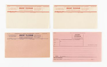 98/2/78-6 Telegram forms (11), part of collection, 'Urgent Telegram Form', blank, paper / ink, Australian Post Office / Postmaster Generals Department, Australia, 1946-1964