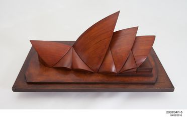 2003/34/1-5 Model, 'wind tunnel test', unknown maker for Ove Arup and Partners in collaboration with Jorn Utzon, England, 1960.