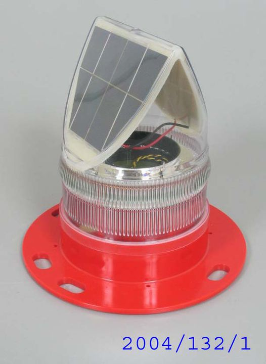 2004/132/1 Navigational lantern, 'SL70' solar marine lantern, plastic / electronic components, designed and made by Sealite Pty Ltd, Sommerville, Victoria, Australia, 2002-2003. Click to enlarge.