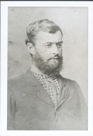 P2903-1/6 Photographic print, black and white, portrait of Lawrence Hargrave, 1878, copy print made c1977