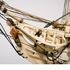 Image 21 of 46, H5217 Ship model in case, 72 gun French Frigate warship, possibly representing the 74 gun 'Le Heros', bone / wood / perspex, made by a Napoleonic prisoner-of-war, c. 1800. Click to enlarge