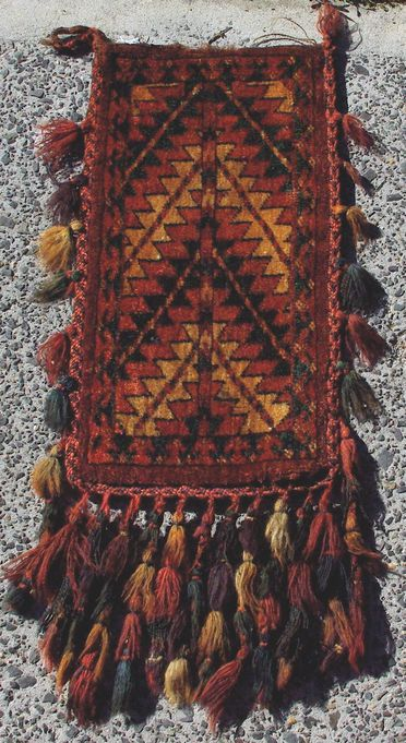 2015/26/90 Storage bag (igsalyk), knotted pile, wool, made by Yomut Turkmen women, Turkmenistan or eastern Iran, mid 1800s