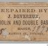 Image 7 of 9, 2004/96/1 Violin tension bar and labels (2), wood / paper, made by John Devereux, Melbourne, Victoria, Australia, 1870-1872. Click to enlarge
