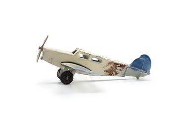 2008/158/1-10 Toy aircraft (1 of 6), part of collection, 'Percival Gull monoplane (60c)', metal, Meccano Ltd, Liverpool, England, 1934-1940, used Wyatt family, Hobart, Tasmania / Roseville, New South Wales, Australia, 1935-1942