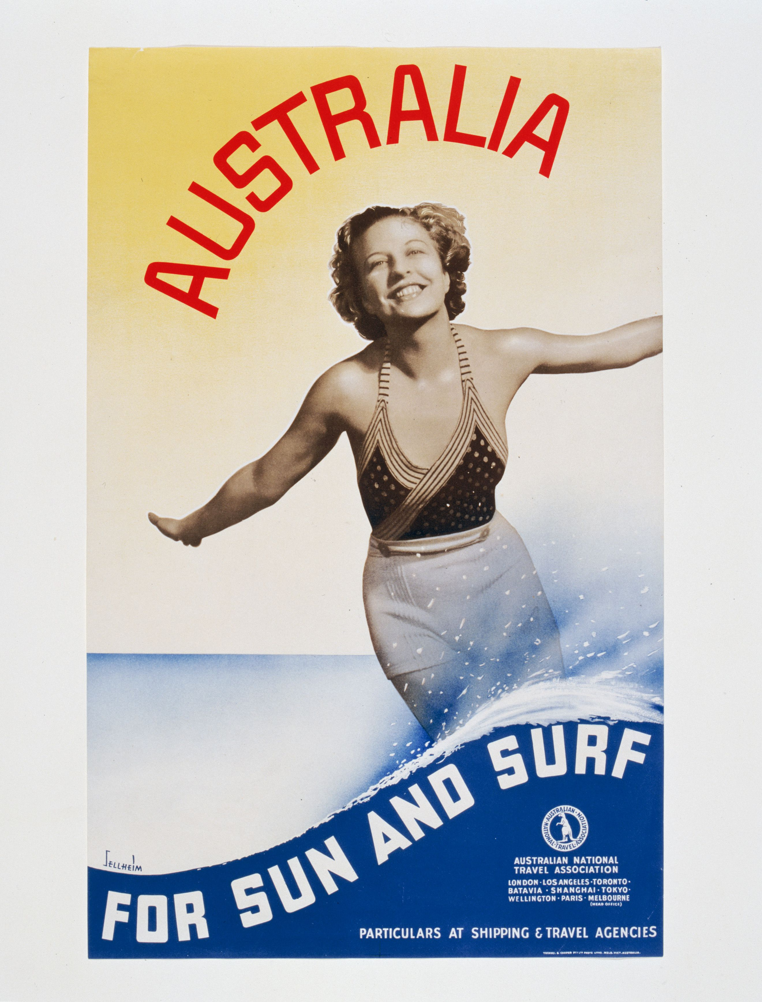 Advertising poster used by the Australian National Travel
