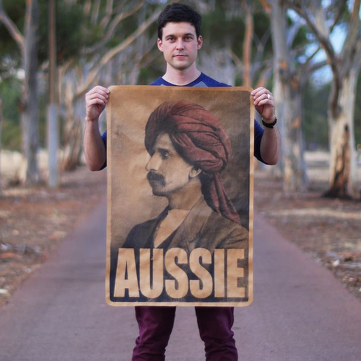 2016/47/1 Posters (2), 'Aussie', paper / ink, designed and made by Peter Drew, Adelaide, South Australia, 2016. Click to enlarge.