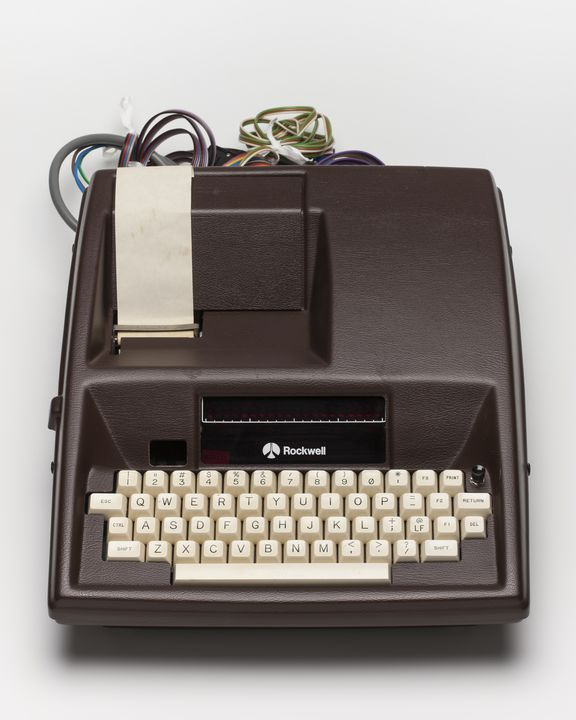 98/83/1 Rockwell AIM65 microcomputer, polyvinyl chloride / metal / rubber / electronic components, made by Rockwell International Corporation, United States of America, 1979. Click to enlarge.
