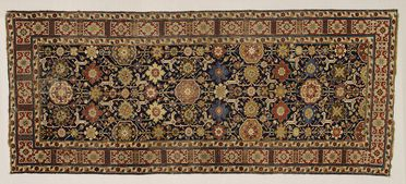 2004/136/1 Rug, Afshan runner, wool / cotton, symmetrical knots, Shirvan district, Kuba region, north Caucasus, c 1800